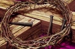 Croix et tête Image libre de droits