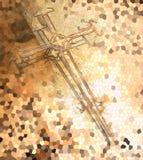 Croix faite à partir du fil illustration de vecteur