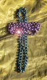 Croix faite de perles images libres de droits