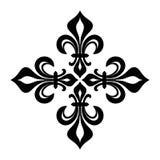 Croix fleurdelisée Stock Images