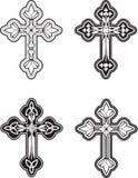 Croix fleurie Image stock
