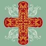 Croix fleurie florale illustration libre de droits