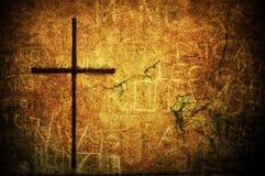 Croix grunge Photos libres de droits