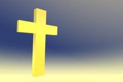 Croix jaune Photos libres de droits