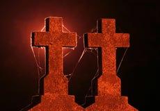 Croix la nuit Image stock