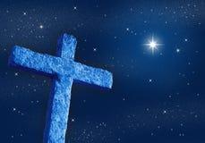 Croix la nuit illustration libre de droits