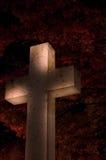 Croix la nuit Images libres de droits