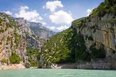 Croix lake. St. croix lake, les gorges du verdon in provence, france Royalty Free Stock Images