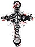 Croix mécanique Image libre de droits