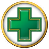 Croix médicale Signe médical Symbole de médecine Photos stock
