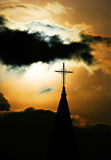 Croix métallique Images libres de droits