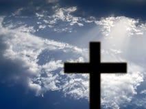 Croix noire Photo libre de droits