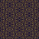 Croix ovale orientale de spirale de courbe de fond sans couture antique kal Photos libres de droits