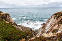 Croix-padrand au cap Roca, Sintra, Portugal Photo libre de droits