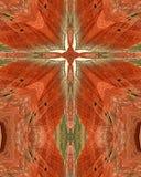 Croix peinte de désert Images libres de droits