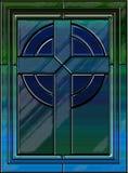 Croix réaliste en verre souillé Image libre de droits