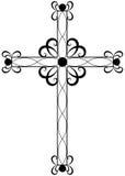 Croix religieuse fleurie traditionnelle Photo libre de droits