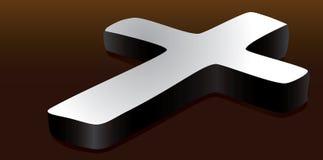 Croix religieuse sur la surface illustration de vecteur