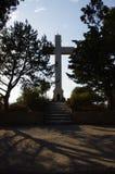 Croix Rhodos Grèce de Filerimos de montagne photos libres de droits