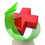 Croix-Rouge et flèche illustration libre de droits