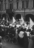 Croix-Rouge italienne des années 1950 de vintage Image libre de droits