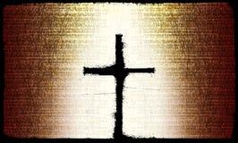 Croix rustique Image libre de droits