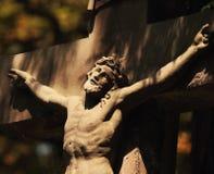 Croix sainte avec le Jésus-Christ crucifié Photo libre de droits
