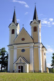 Croix sainte d'église de pélerinage, Autriche Image stock