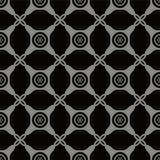 Croix sans couture antique Dot Frame de contrôle de coin rond de fond illustration de vecteur
