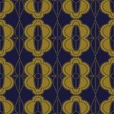 Croix sans couture antique Dot Line Fram ovale rond de courbe de fond Photographie stock libre de droits