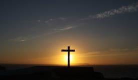 Croix sur l'horizon Photographie stock libre de droits