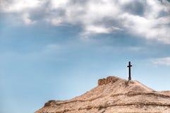 Croix sur la montagne photos libres de droits