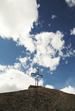 Croix sur la pierre Image libre de droits