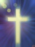 Croix sur le bleu Photos libres de droits