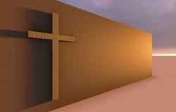 Croix sur le mur Image libre de droits