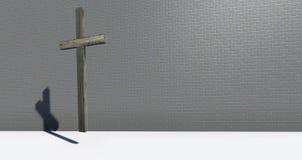 Croix sur le mur Image stock