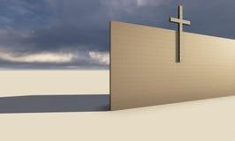 Croix sur le mur Photo libre de droits