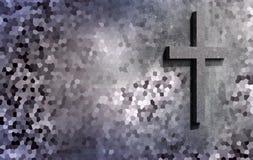 Croix sur le mur illustration de vecteur