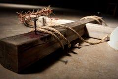 Croix sur le plancher Images libres de droits
