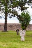 Croix sur les tombes Photo libre de droits