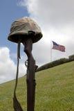 Croix tombée de bataille de soldat Photos stock