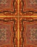 Croix vermeille de falaises Images libres de droits