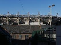 Croke Parkuje GAA mlejącego w Dublin, Irlandia za domami obrazy royalty free