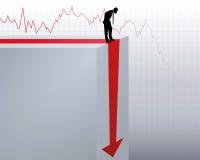 Crollo del giro d'affari Immagini Stock