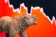 Crollo del mercato azionario con il grafico fotografia stock libera da diritti
