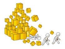 Crollo della piramide finanziaria Fotografia Stock Libera da Diritti
