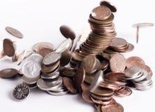 Crollo delle monete Fotografia Stock Libera da Diritti