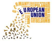 Crollo di Unione Europea illustrazione vettoriale