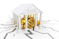 Crollo finanziario Fotografie Stock