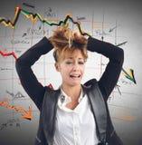 Crollo finanziario Fotografia Stock